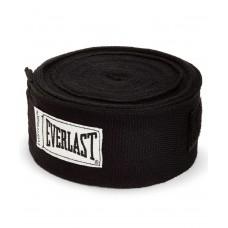 Бинт боксерский Everlast 4456BLU, 4.55м, х/б, черный