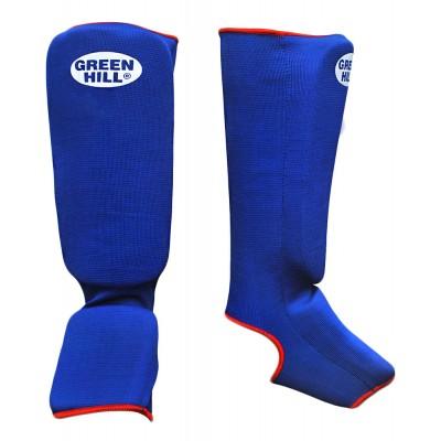 Защита голень-стопа Green Hill SIC-6131, х/б, синий