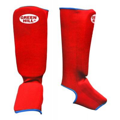 Защита голень-стопа Green Hill SIC-6131, х/б, красный