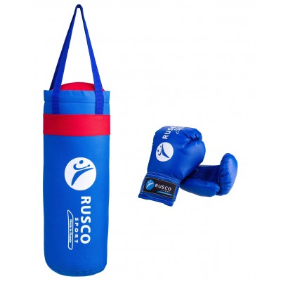 Набор для бокса  Rusco, 6 oz, кожзам,  синий