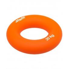 """Эспандер кистевой ES-404 """"Кольцо"""", диаметр 8,8 см,  20 кг, оранжевый"""