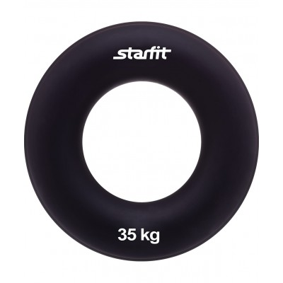 """Эспандер кистевой ES-404 """"Кольцо"""", диаметр 8,8 см, 35 кг, чёрный"""