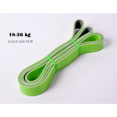 Эспандер петля двухцветный 18-36 кг Aimeishi