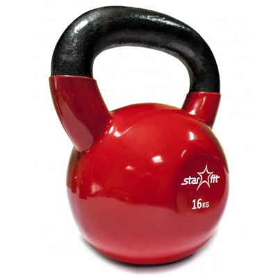 Гиря виниловая STARFIT DB-401 16 кг, красная