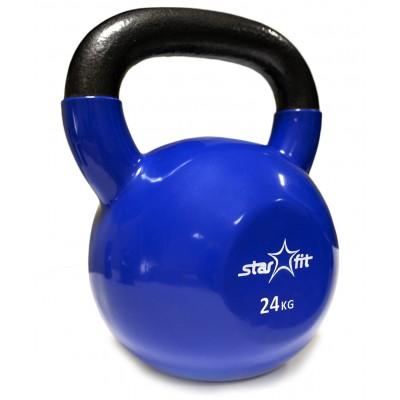 Гиря виниловая STARFIT DB-401 24 кг, темно-синяя