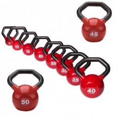 Набор гирь KETTLEBALL™ 124,5 кг (из: KBL5, KBL10, KBL15, KBL20, KBL25, KBL30, KBL35, KBL40, KBL45, KBL50 по одной штуке каждого веса)