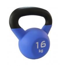 Гиря чугунная с виниловым покрытием SportElite 16 кг, матовая