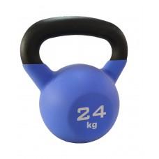 Гиря чугунная с виниловым покрытием SportElite 24 кг, матовая