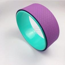 Колесо для йоги FF-32, фиолетовый/мятный