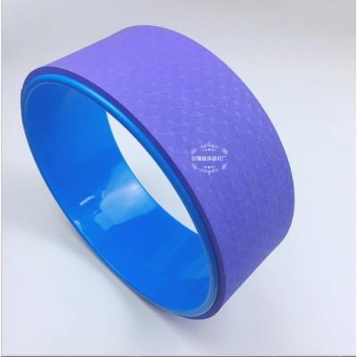 Колесо для йоги FF-32, фиолетовый/синий
