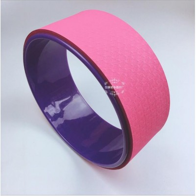 Колесо для йоги FF-32, розовый/фиолетовый