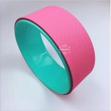 Колесо для йоги FF-32, розовый/мятный
