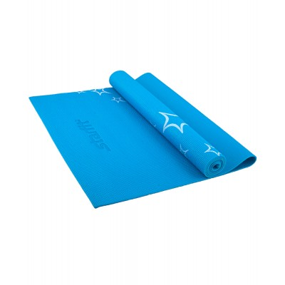Коврик для йоги STARFIT FM-102 PVC 173x61x0,3 см, с рисунком, синий