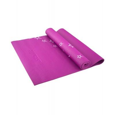 Коврик для йоги STARFIT FM-102 PVC 173x61x0,4 см, с рисунком, фиолетовый