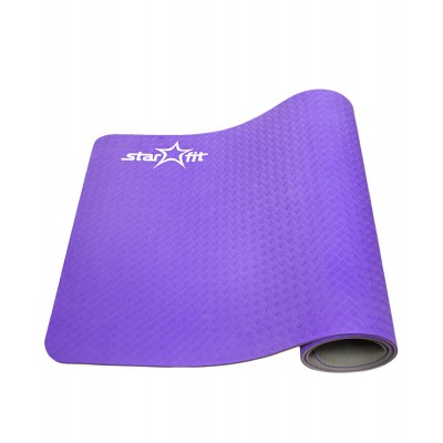 Коврик для йоги STARFIT FM-201, TPE перфорированный, 173 x 61 x 0,5 см, ярко-красный