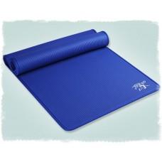 Коврик для йоги из NBR c окантовкой 183х61х1 см KN1003, синий