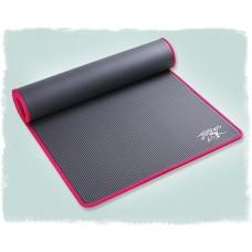 Коврик для йоги из NBR c окантовкой 183х61х1 см KN1004, серый/розовый