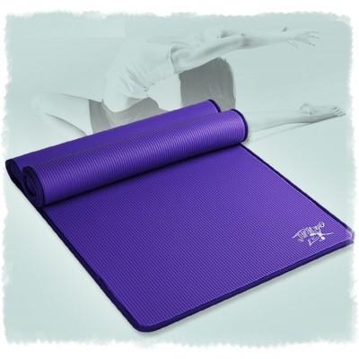 Коврик для йоги из NBR c окантовкой 183х61х1 см KN1005, фиолетовый