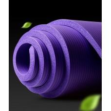 Коврик для йоги из NBR с разметкой 185х80х1 см AOYI KN1006, фиолетовый