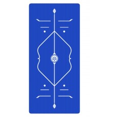 Коврик для йоги из NBR c разметкой 185х80х1 см AOYI KN1008, синий