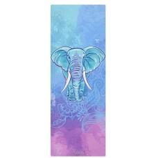Коврик для йоги из каучука и микрофибры 178х61х0,35 см Nagudi Слон