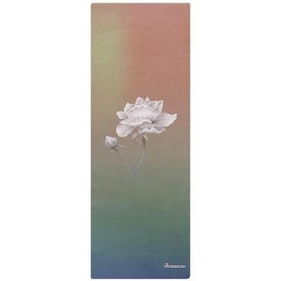 Коврик для йоги из каучука и микрофибры 178х61х0,35 см Nagudi Лотус
