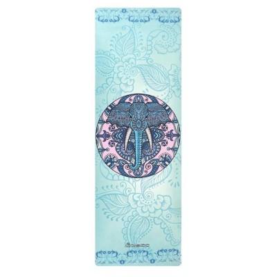 Коврик для йоги из каучука и микрофибры 178х61х0,4 см Nagudi Брахма
