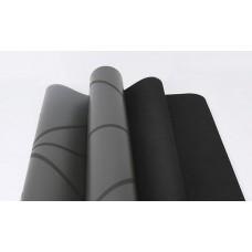 Коврик для йоги из каучука с разметкой 185х68х0,45см Nagudi KN1016 черный