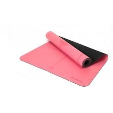 Коврик для йоги из каучука с разметкой 185х68х0,45 см Nagudi KN1017 розовый