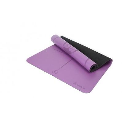 Коврик для йоги из каучука с разметкой 185х68х0,45 см Nagudi KN1018 фиолетовый