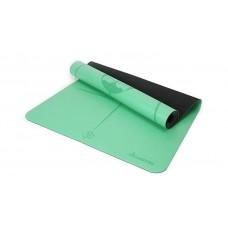 Коврик для йоги из каучука с разметкой 185х68х0,45 см Nagudi KN1019 зеленый