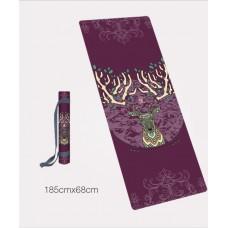 Коврик для йоги из каучука и микрофибры 185х68х0,4 см Мандолинский олень