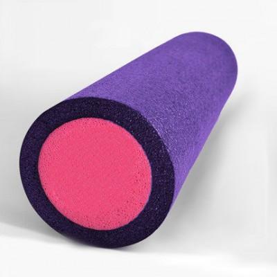 Ролик для йоги и пилатеса KN60 фиолетовый-розовый 60х15 см
