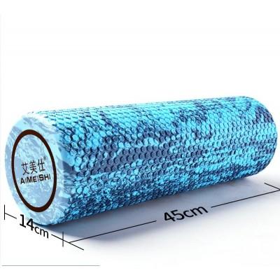 Ролик для йоги и пилатеса массажный Aimeishi KN1039  45х14 см, синий/голубой