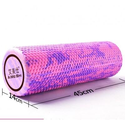 Ролик для йоги и пилатеса массажный Aimeishi KN1040 45х14 см, розовый/фиолетовый