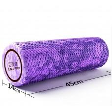 Ролик для йоги и пилатеса массажный Aimeishi KN1041 45х14 см, фиолетовый