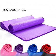 Коврик для йоги из NBR c окантовкой S500 розовый, 183х61х1см