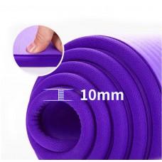 Коврик для йоги из NBR c окантовкой S500 фиолетовый, 183х61х1см