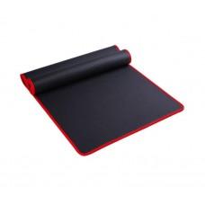 Коврик для йоги из NBR c окантовкой S500 черный-красный, 183х61х1см