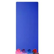 Коврик для йоги из NBR c окантовкой S500 синий, 183х61х1см