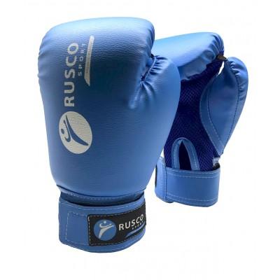 Перчатки боксерские, 8-10 oz, к/з, синиe