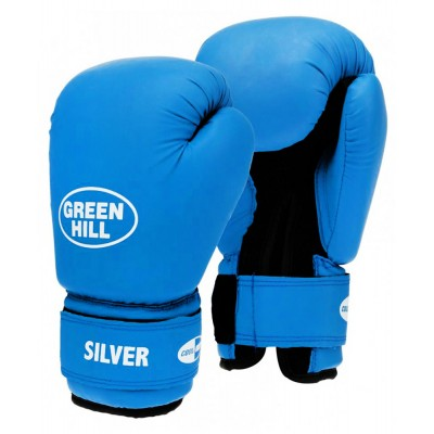 Перчатки боксерские Green Hill SILVER, синий, красный