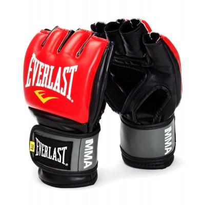 Перчатки для смешанных единоборств Everlast Pro Style Grappling, черный, красный
