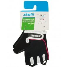 Перчатки для фитнеса  женские STARFIT SU-111, черный/белый/розовый