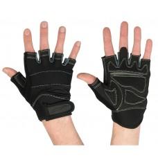 Перчатки для фитнеса мужские STARFIT SU-116, черный/серый