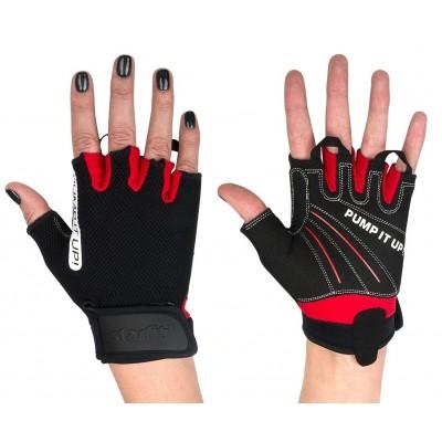 Перчатки для фитнеса универсальные STARFIT SU-119, черный, красный