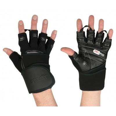 Перчатки для фитнеса мужские STARFIT SU-124, черный/серый