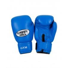 Перчатки боксерские Green Hill GYM BGG-2018, 8-10-12-14oz, кожа, синий