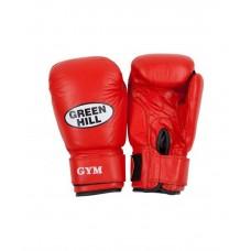 Перчатки боксерские Green Hill GYM BGG-2018, 8-10-12-14oz, кожа, красный