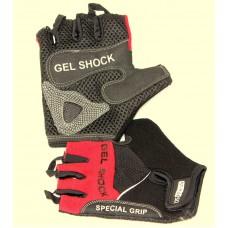 Перчатки для фитнеса мужские Ecos 2117-RM/RL/RXL, черный/красный